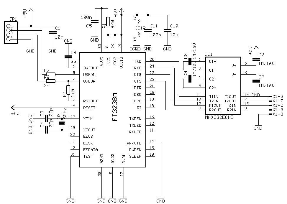 basic circuit for usb
